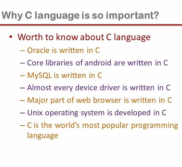 Importance of c language