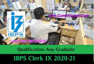 IBPS Recruitment for 12075 CRP Clerks – IX Posts 2019