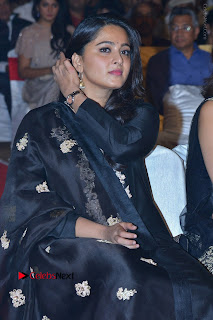 Actress Anushka Anushka Shetty Stills in Black Salwar Kameez at Om Namo Venkatesaya Audio Launch Event  0039.JPG