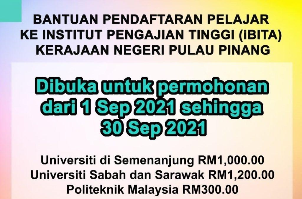 Permohonan iBita Pulau Pinang 2021 Online (Semakan Status)