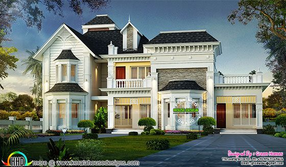 Awesome decorative style home plan