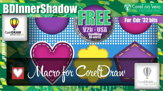 "Como Criar Sombra Persanalizadas em CorelDraw ""BDInnerShadow"""
