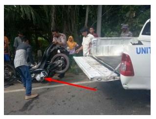 Vixion Vs Truck Tanki, Satu orang meninggal ditempat