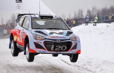 Hyundai i20 WRC at Rally Sweden