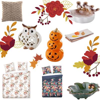 Home and You, damazprowincji blog, jesień w domu, przegląd sieciówek, jesienne zakupy,dekoracyjne dodatki, zestaw, whislista jesień