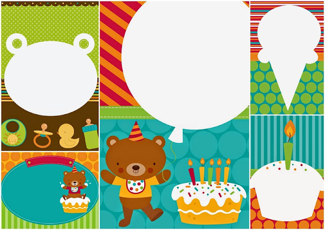 Little Bear Party Free Printable Invitations.
