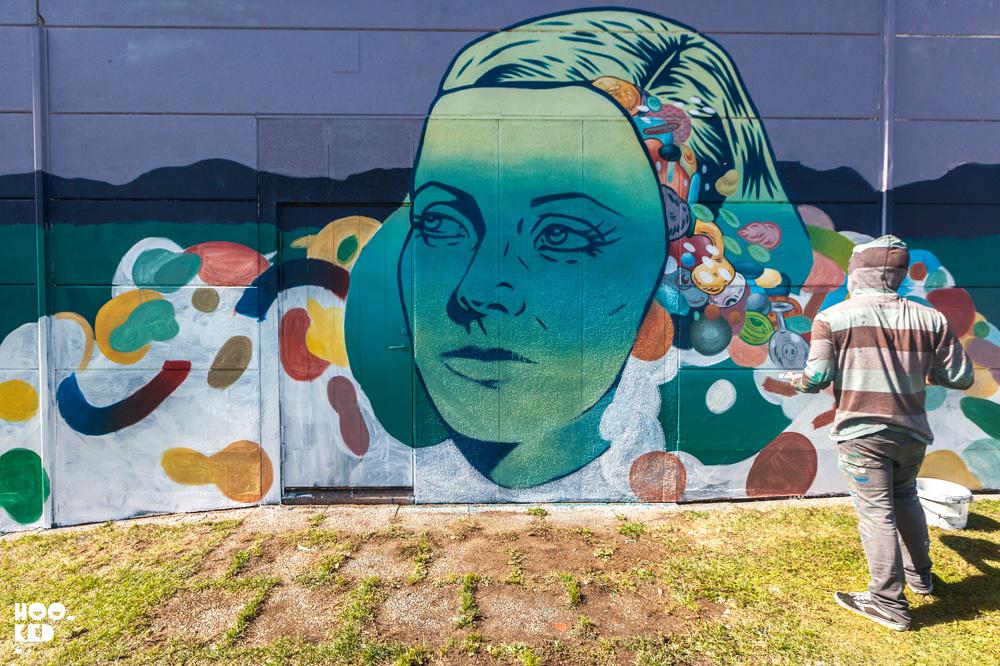 Swedish Street Art Festival in Falköping - Mario Maple Mexican artist