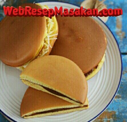 Kue Dorayaki, Kue Dorayaki teflon, Resep kue dorayaki,