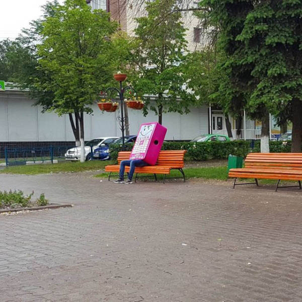 sozinho na praça