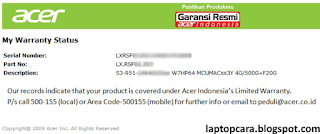 laptop warranty acer