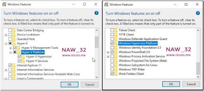 Mengaktifkan fitur Hyper-V dan Windows Hypervisor Platform di Windows 10 pada platform AMD Ryzen