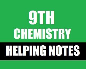 9th Class (Matric-1) Notes of Chemistry (Pdf Format) - taleem360.com