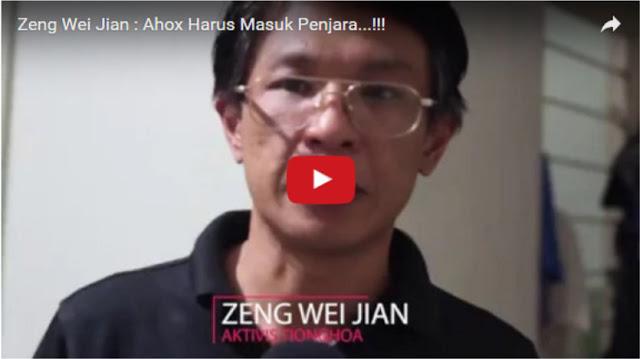[Video] Terkait Fitnah Demonstran Bayaran, Zeng Wei Jian: Ahok Harus Segera Ditahan!