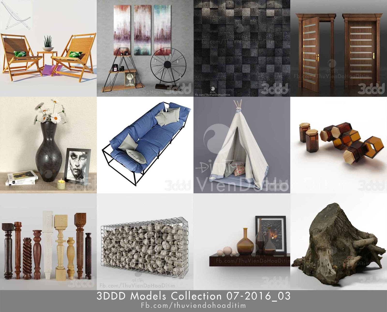 3dsky 3ddd models collection for 3d model decoration