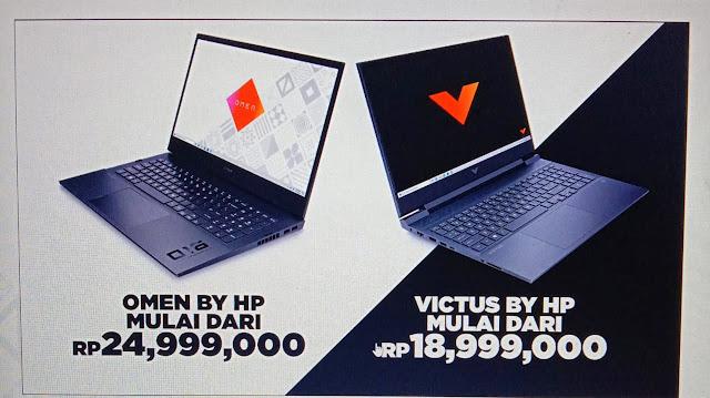 harga laptop gaming omen dan victus by hp