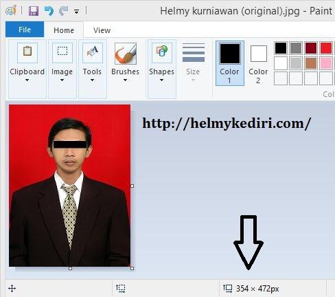 Cara Mengubah Ukuran Foto 3x4 4x6 Di Paint Blog Orang It