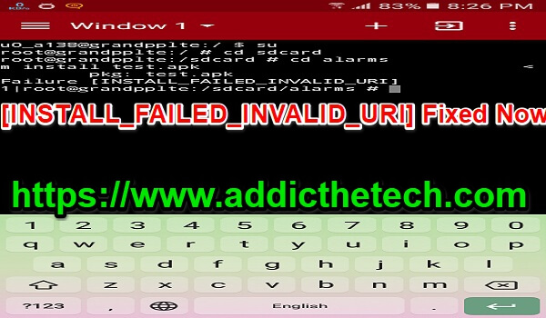 [INSTALL_FAILED_INVALID_URI] Fixed Now (Root Need ) [Terminal Emulator].