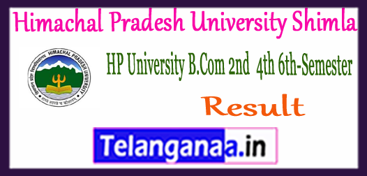 HP Himachal Pradesh University Shimla 2nd 4th 6th UG Semester Result 2018