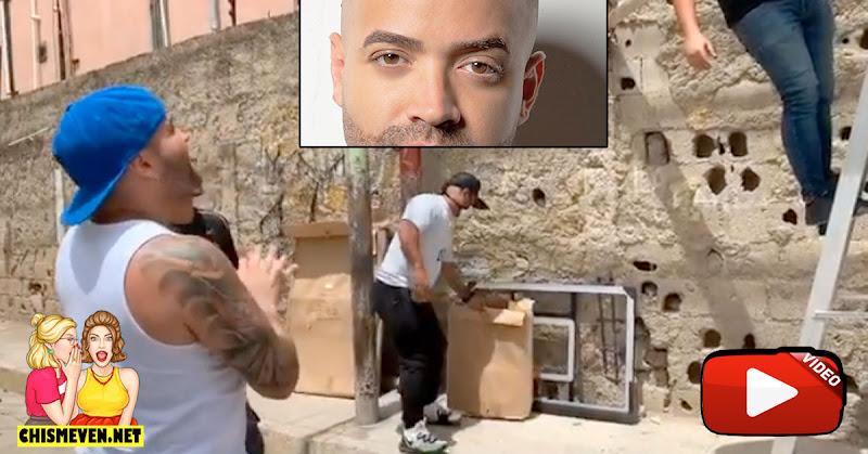Nacho montó Aro de basquetbol y jugó con los vecinos en un barrio de Margarita