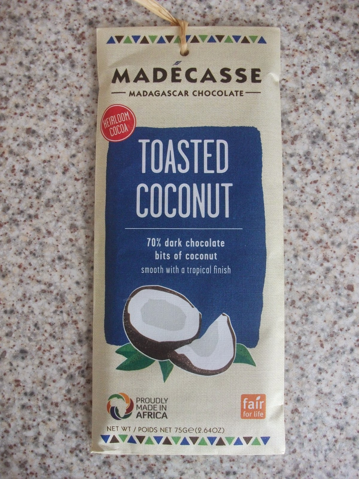 Madecasse toasted coconut dark chocolate