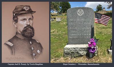Captain Joel H. Prouty. Civil War Veteran. Freemason. Worcester, Massachusetts. by Travis Simpkins