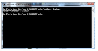 Cara Flash Asus Zenfone C Z007 Via ADB Fastboot
