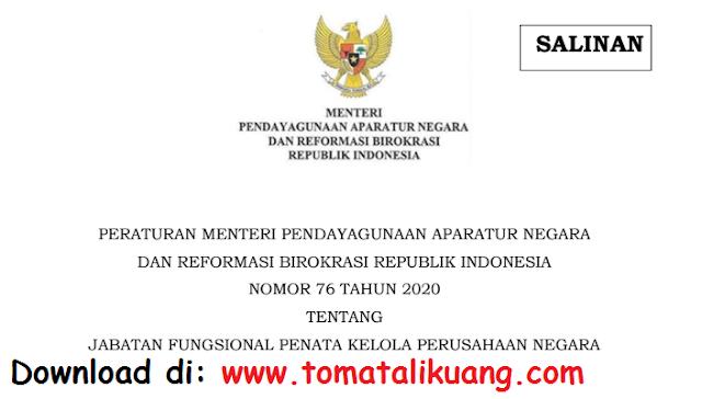 permenpan rb nomor 76 tahun 2020 tentang jabatan fungsional penata kelola perusahaan negara pdf tomatalikuang.com