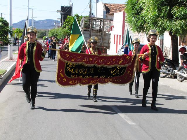 A Prefeitura de Riacho dos Cavalos realizou neste sábado Desfile Cívico 7 de setembro