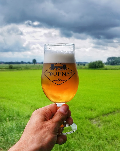 Tournay beer in Tournai Belgium