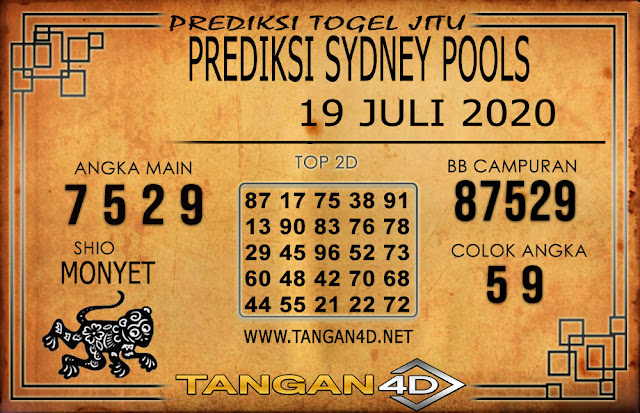 PREDIKSI TOGEL SYDNEY TANGAN4D 18 JULI 2020