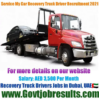 Service My Car Recovery Truck Driver Recruitment 2021-22