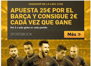 Betfair 2 euros partido Barcelona ganador liga 17-18 hasta 1 septiembre