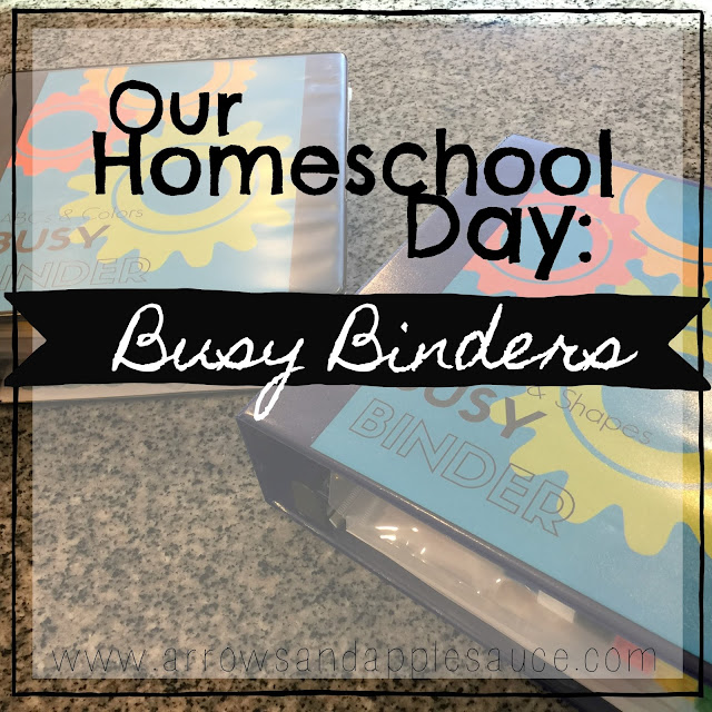 Preschool busy binders, tot school, printables, organized