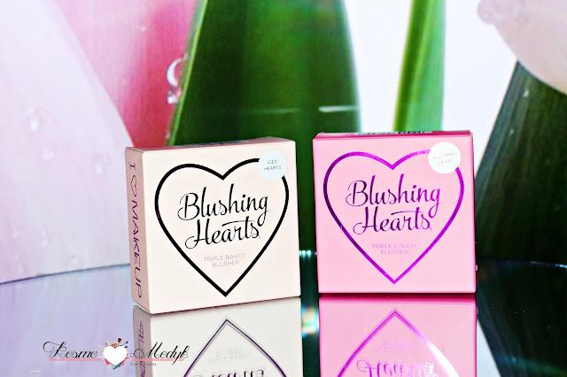 Makeup Revolution, serduszkowe róże do policzków I Heart - Iced Hearts oraz Blushing Heart
