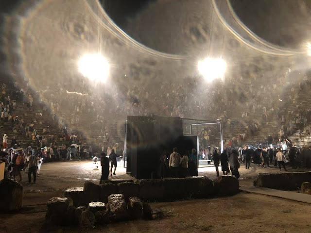 Διεκόπη η παράσταση του  «Οιδίποδα» στην Επίδαυρο λόγω βροχής