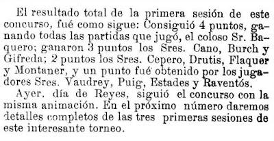 Recorte de Los Deportes, 7/1/1905