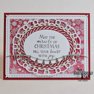 Our Daily Bread Designs Stamp Set: Merry & Bright, Our Daily Bread Designs Custom Dies: Christmas Lights, Snowflake Sky, Ovals, Layered Lacey Ovals, Our Daily Bread Designs Paper Collection: Snowflake Season