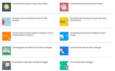 Cara Membuat Daftar Isi Di Blogspot Blogger - Tampilan Hasil Daftar Isi di Blogger