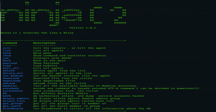 Ninja : Open Source C2 Server Created For Stealth Red Team Operations