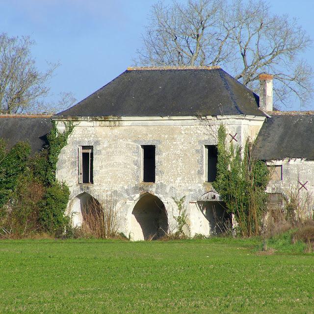 Farm building, Chateau de la Tourballiere complex, Indre et Loire, France. Photo by Loire Valley Time Travel.
