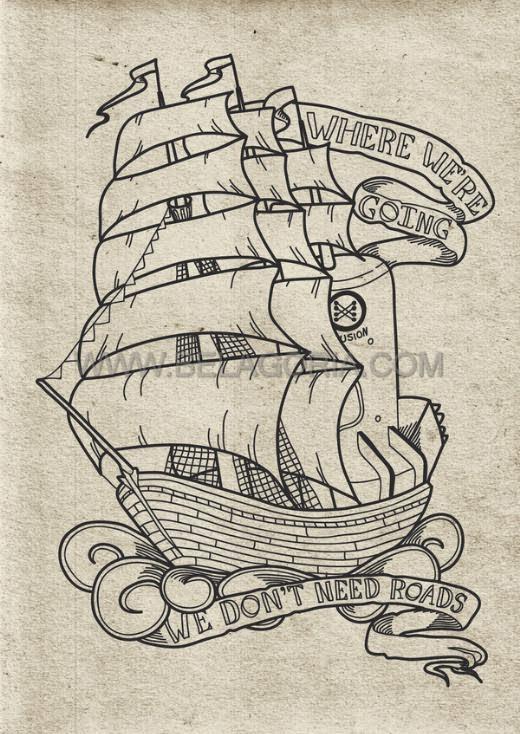 Barcos Piratas Para Dibujar De