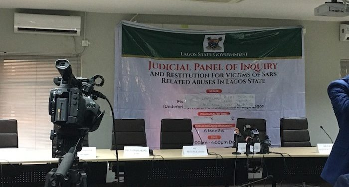#EndSARS: Drama As Petitioner Identifies Police Lawyer Who Slapped Him Four Times Inside Lagos Judicial Panel Hall #Arewapublisize