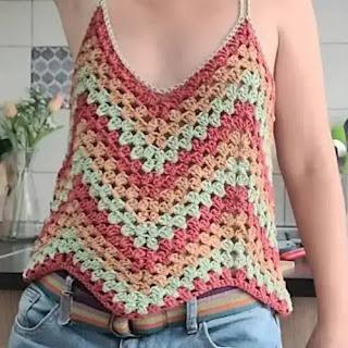 Blusa ZigZag a Crochet