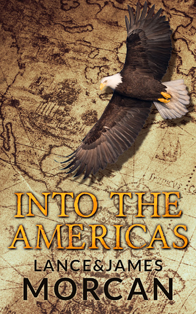 Spotlight, Giveaway, Into the Americas, Lance and James Morcan, Books, Cover, The Writing Greyhound, Lorna Holland
