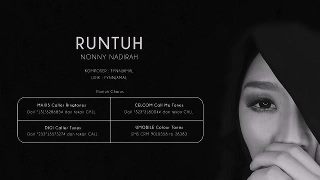Lirik Lagu Runtuh Nonny Nadirah