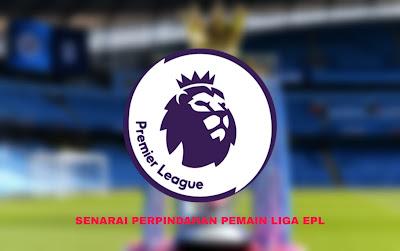 Senarai Perpindahan Pemain Liga EPL 2019/2020