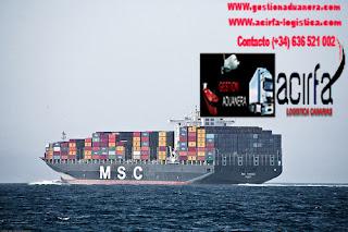 transporte maritimo contenedores