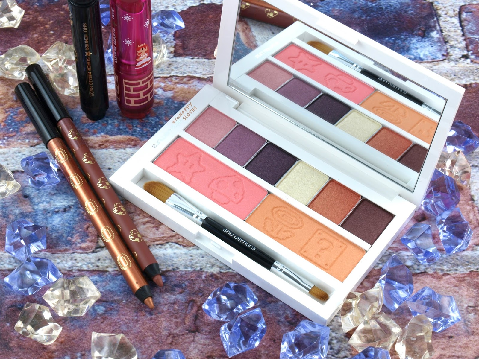 Shu Uemura x Super Mario Holiday 2017 Collection | Peach's Eye and Cheek Palette | Review and Swatches