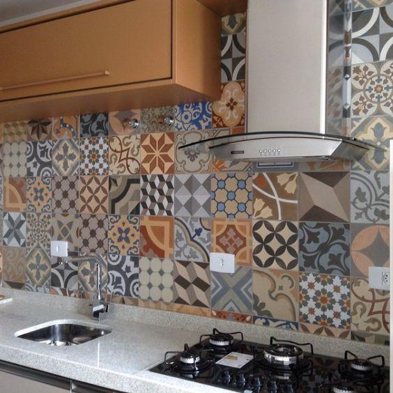 10 cozinhas com revestimentos de porcelanato ladrilho for Azulejo de porcelanato