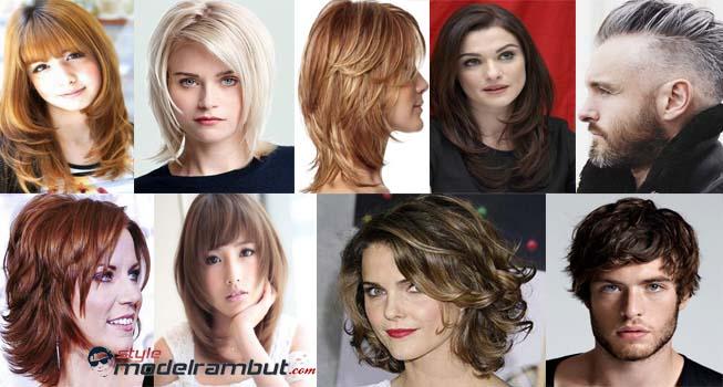 model rambut segi pendek